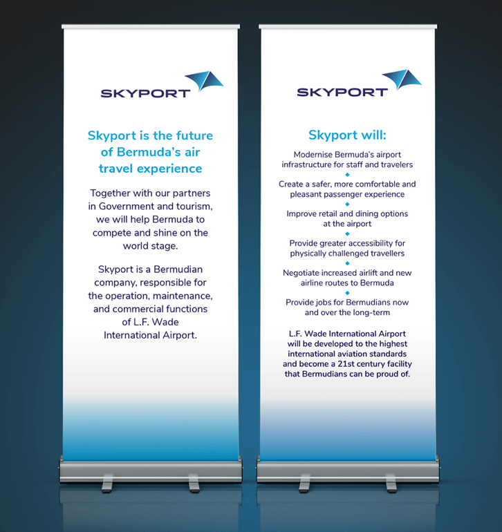 Skyport banners